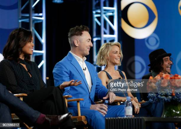 The cast and Executive Producer of the CBS series INSTINCT at the TCA Winter Press Tour 2018 on Monday January 6 2018 at the Langham Huntington Hotel...