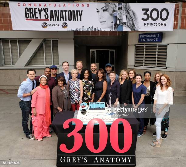 S ANATOMY The cast and Executive Producers of ABCs Greys Anatomy along with ABC Executives Channing Dungey and Patrick Moran celebrate the taping of...
