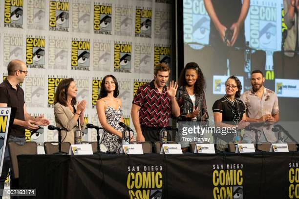 SIREN The cast and executive producers of Freeforms fan favorite mermaid drama series Siren attend 2018 San Diego ComicCon EMILY WHITESELL ELINE