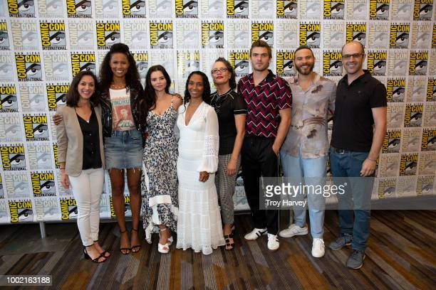 SIREN The cast and executive producers of Freeforms fan favorite mermaid drama series Siren attend 2018 San Diego ComicCon FOLA EVANSAKINGBOLA ELINE...