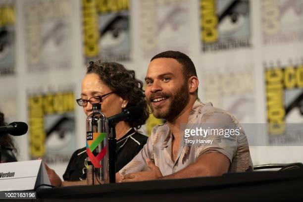 The cast and executive producers of Freeforms fan favorite mermaid drama series, Siren attend 2018 San Diego Comic-Con. RENA OWEN, IAN VERDUN