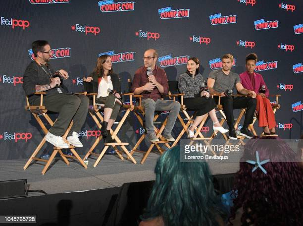The cast and executive producers of Freeforms fan favorite mermaid drama series, Siren attend 2018 New York Comic-Con. DAMIANHOLBROOK, EMILY...