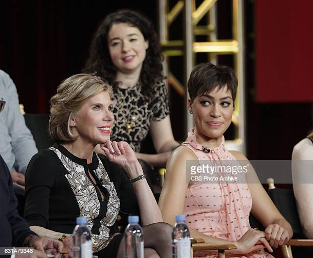 The cast and Executive Producers of the CBS series THE GOOD FIGHT at the TCA Winter Press Tour 2017 on Monday January 9 2017 at the Langham...
