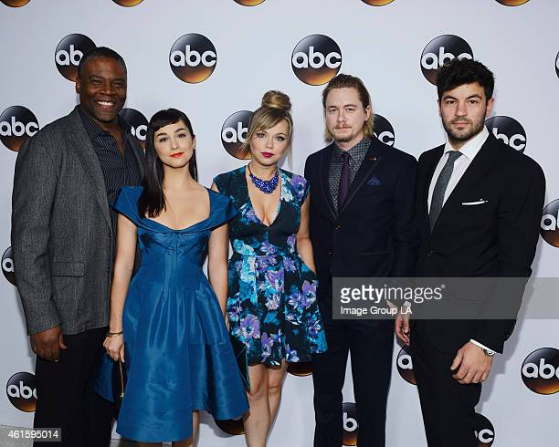 TOUR 2015 The cast and executive producers of Walt Disney Television via Getty Images series graced the carpet at Disney | Walt Disney Television via...