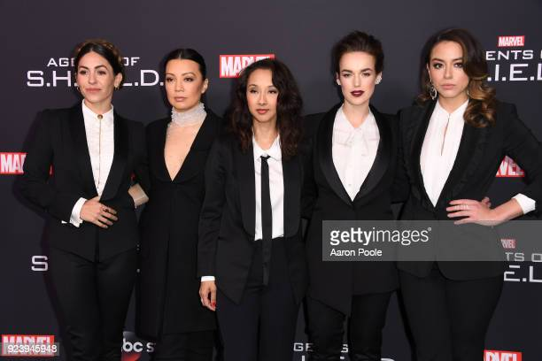 S AGENTS OF SHIELD The Cast and Executive Producers of ABC's 'Marvel's Agents of SHIELD' celebrate its milestone 100th episode in Los Angeles on...