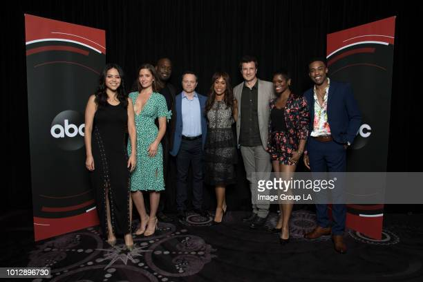 TOUR 2018 The cast and producers of ABC's 'The Rookie' at the Disney   ABC Television Summer Press Tour 2018 at The Beverly Hilton in Beverly Hills...