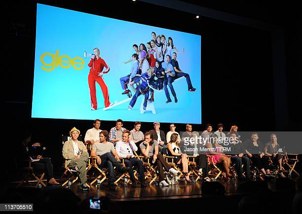 The cast and producers of Glee host the Glee Academy Screening and QA on May 4 2011 in Hollywood California