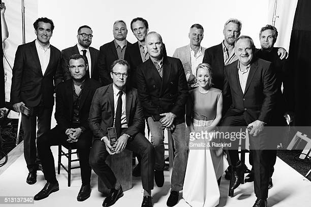 The cast and producers of 'Spotlight' actor Brian d'Arcy James Newspaper editor Martin Baron actor Michael Cyril Creighton writer/director Tom...