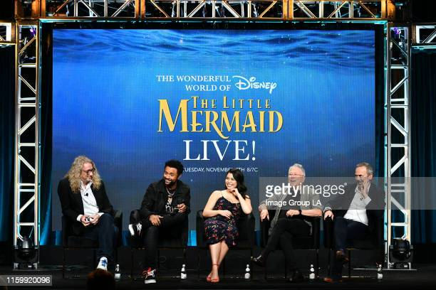 TCA 2019 The cast and producers of The Wonderful World of Disney presents The Little Mermaid Live address the press at the ABC Summer TCA 2019 at The...