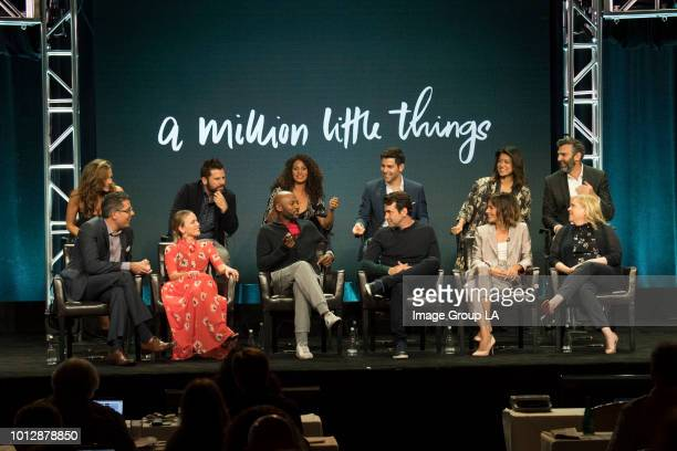 TOUR 2018 The cast and producers of ABC's 'A Million Little Things' at the Disney | ABC Television Summer Press Tour 2018 at The Beverly Hilton in...