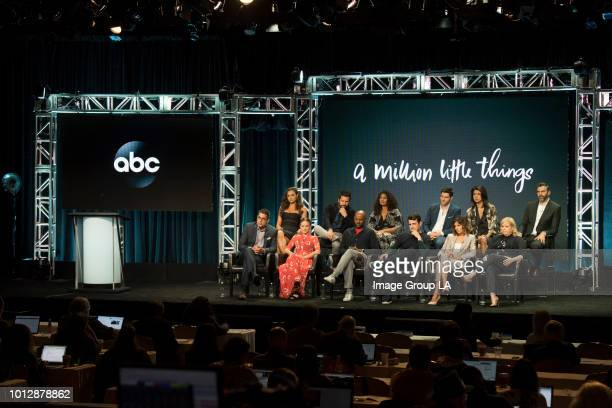 TOUR 2018 The cast and producers of ABC's A Million Little Things at the Disney | ABC Television Summer Press Tour 2018 at The Beverly Hilton in...