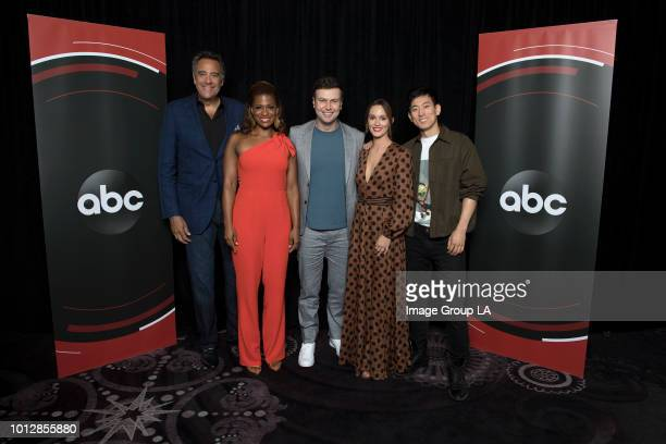 TOUR 2018 The cast and producers of ABC's 'Single Parents' at the Disney | ABC Television Summer Press Tour 2018 at The Beverly Hilton in Beverly...