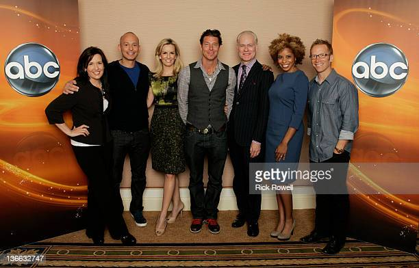 TOUR 2012 The cast and producers of ABC's 'The Revolution' posed for a photo op at Disney/ABC Television Group's Winter Press Tour 2012 ANN LEWIS...