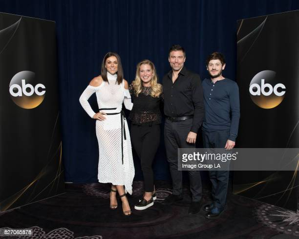 "The cast and producers of Walt Disney Television via Getty Images's ""Marvel's Inhumans"" at Disney 
