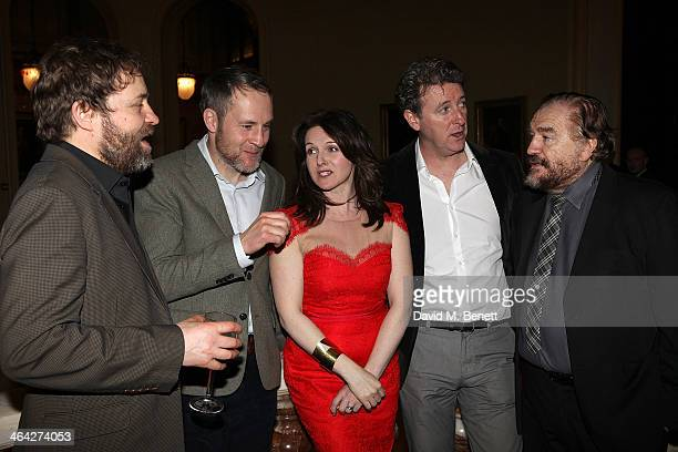 The cast Ardal O'Hanlon; Peter McDonald; Dervla Kirwan; Risteard Cooper; Brian Cox attend an after party following their press night performance of...