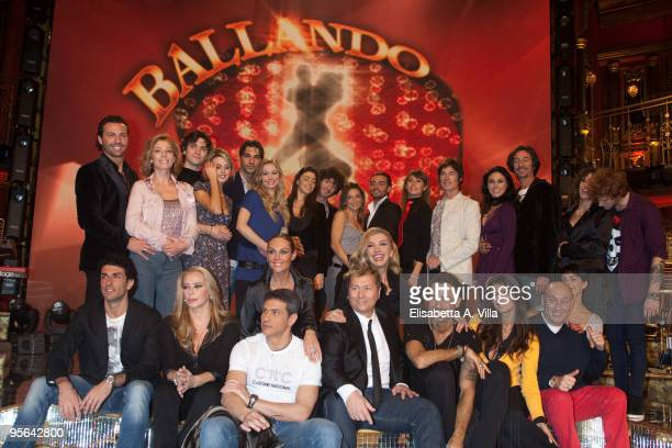 The cast attend a photocall for the Italian TV show 'Ballando Con Le Stelle' at Auditorium RAI on January 8 2010 in Rome Italy