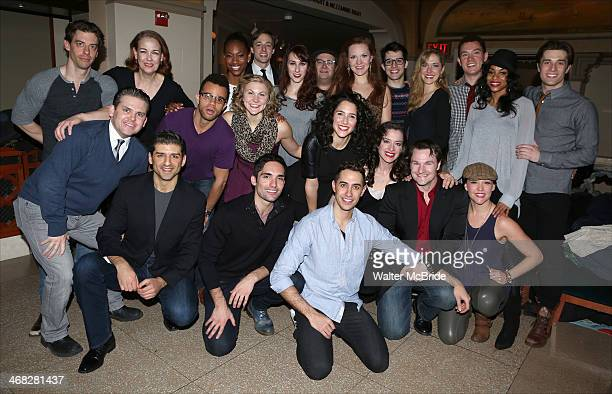 The Cast attend the closing night reception for the Encores production of 'Little Me' at the New York City Center on February 9 2014 in New York City