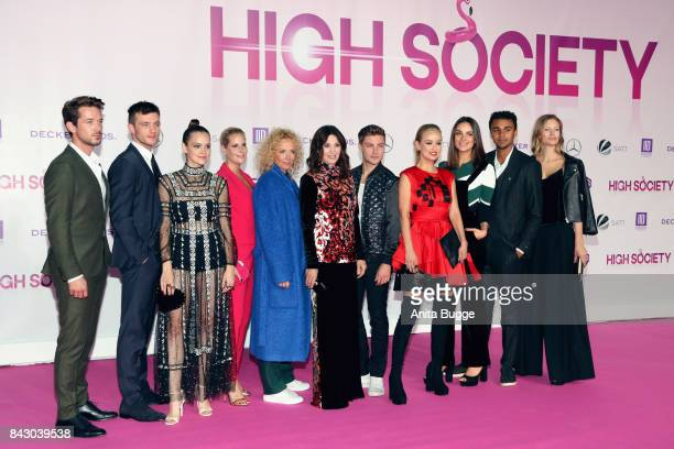 The cast attend the 'High Society' Germany premiere at CineStar on September 5 2017 in Berlin Germany