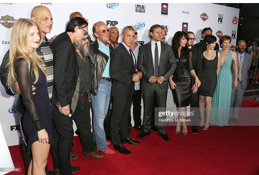 The cast attend the Premiere of FX's 'Sons of Anarchy' Season 6 at the Dolby Theatre on September 7, 2013 in Hollywood, California.