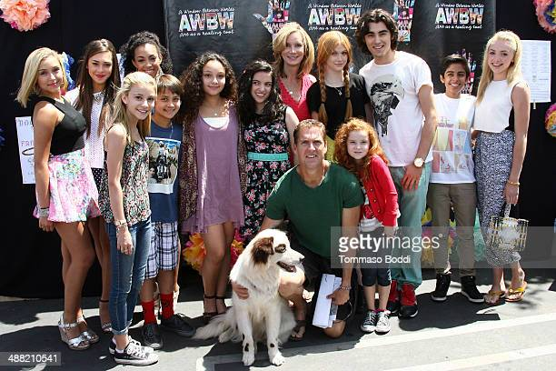 The cast attend the Window Between Worlds presents Art in the Afternoon Family Festival held at the Venice Skills Center on May 4 2014 in Venice...