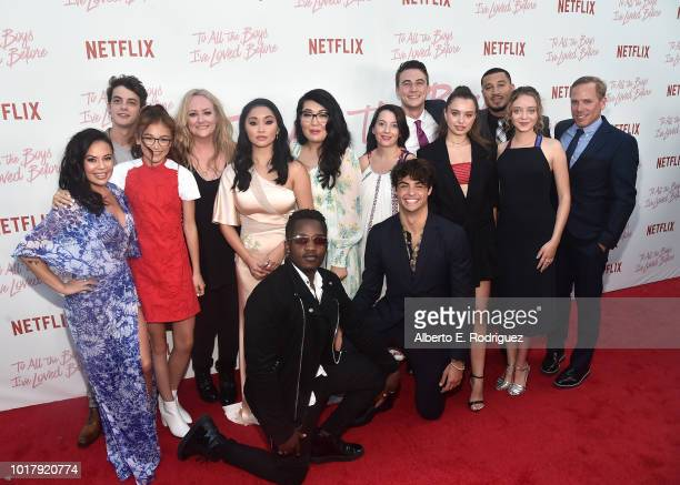 The cast attends a screening of Netflix's 'To All The Boys I've Loved Before' at Arclight Cinemas Culver City on August 16 2018 in Culver City...