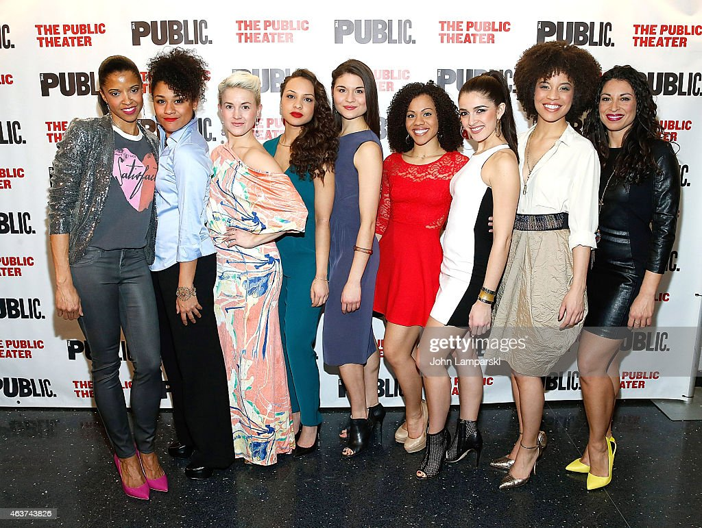 The Cast attends 'Hamilton' Opening Night at The Public Theater on February 17, 2015 in New York City.