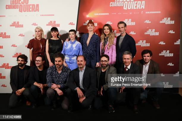 The cast attends Lo Dejo Cuando Quiera photocall on April 09 2019 in Madrid Spain