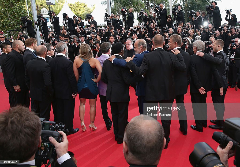 The cast attends 'The Expendables 3' premiere during the 67th Annual Cannes Film Festival on May 18, 2014 in Cannes, France.