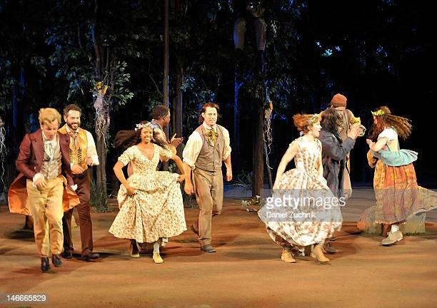 The cast attends the opening night for As You Like It at the Delacorte Theater on June 21 2012 in New York City