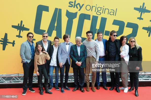 The cast attends the Sky TV series Catch-22 photocall. Rome , May 13th, 2019