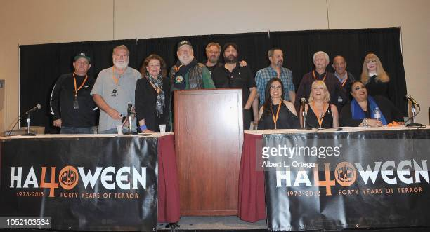 The cast crew of Halloween II at Halloween Con 40 Years Of Terror held at Pasadena Civic Center on October 13 2018 in Pasadena California