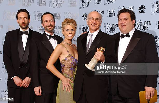 The Cast Curb Your Enthusiasm in the pressroom at the 60th Annual Golden Globe Awards held at the Beverly Hilton Hotel in Los Angeles CA on January...