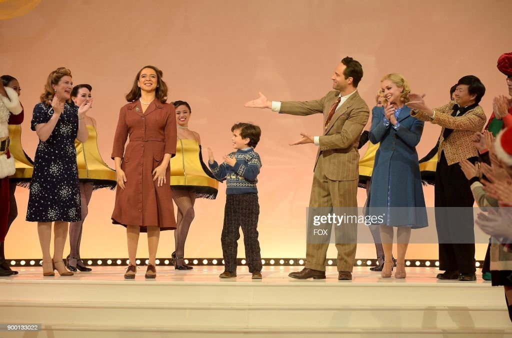 the cast during curtain call at foxs live musical event a christmas story live