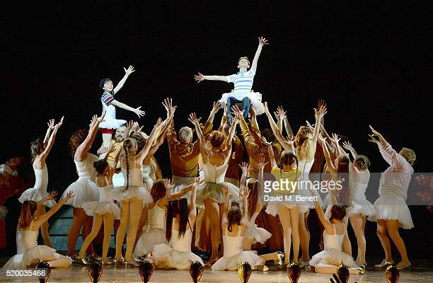 The cast during the curtain call for the last ever West End performance of Billy Elliot The Musical at Palace Theatre on April 9 2016 in London...