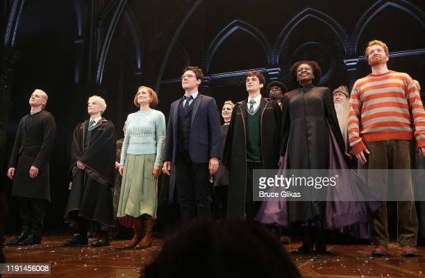 The cast during the opening night curtain call for Harry Potter and The Cursed Child Parts One 2 at The Curran Theatre on December 1 2019 in San...