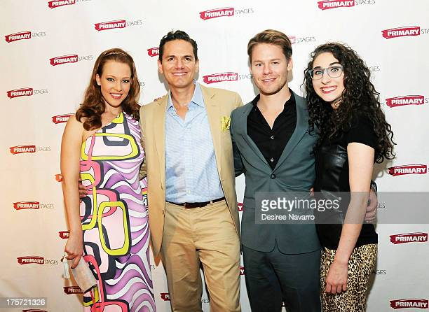The cast Erin Cummings Paul Anthony Stewart Randy Harrison and Alexis Molnar attend 'Harbor' Opening Night After Party at Park Avenue Armory on...