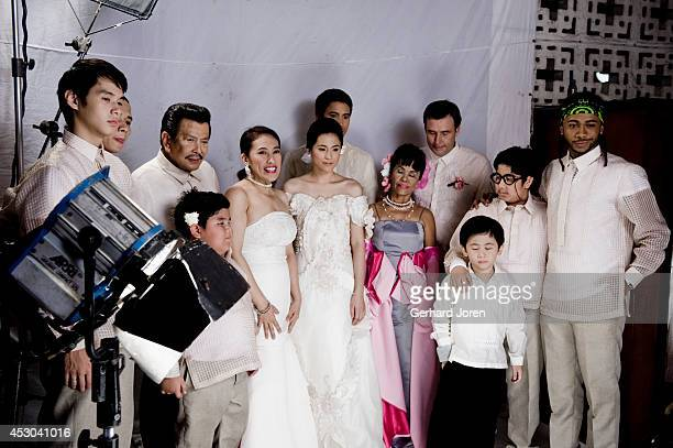 SANTOS MINDANAO PHILIPPINES The cast for a movie with ExPresident Joseph Estrada with actress Ai Ai delas Alas the Comedy Queen Toni Gonzaga actor...
