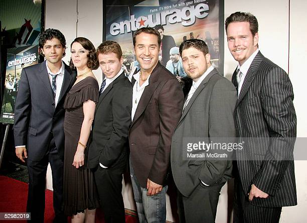 The Cast from Entourage attends the Premiere of HBO's series 'Entourage' at El Capitan Theatre on May 25 2005 in Hollywood California