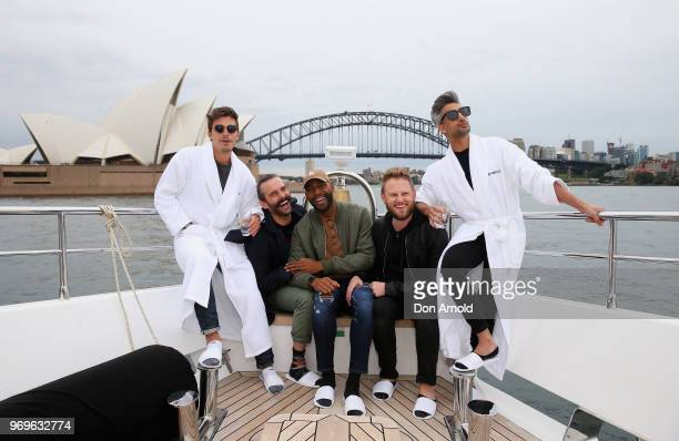The cast from Netflix's Queer Eye visits Sydney Harbour on June 8 2018 in Sydney Australia