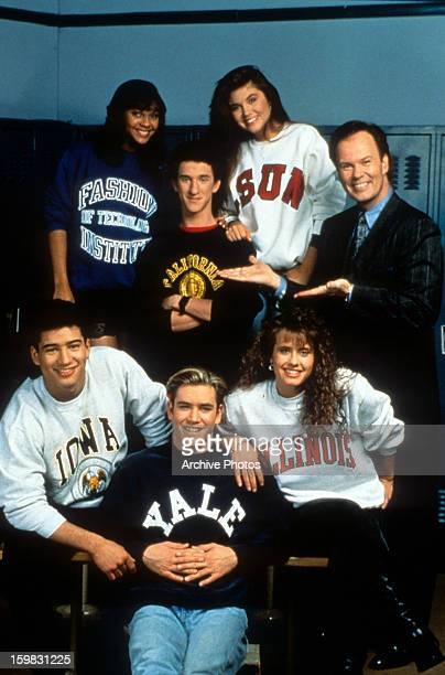 The cast in publicity portrait for the television series 'Saved By The Bell' Circa 1991