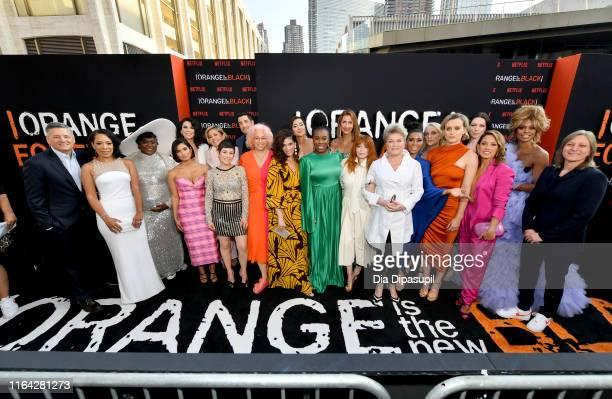 The cast including Selenis Leyva, Danielle Brooks, Diane Guerrero, Beth Dover, Jason Biggs, Jackie Cruz, Uzo Aduba, Alysia Reiner, Natasha Lyonne,...