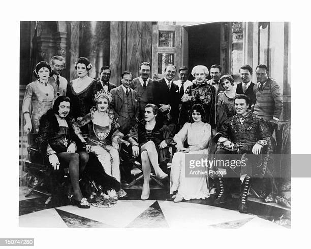 The cast John Barrymore Mary Astor Myrna Loy and Montagu Love in a scene from the film 'Don Juan' 1926