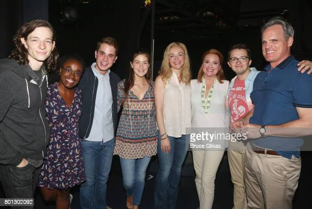 The cast Mike Faist Kristolyn Lloyd Ben Platt Laura Dreyfuss Rachel Bay Jones Jennifer Laura Thompson Will Roland and Michael Park at The Actors Fund...