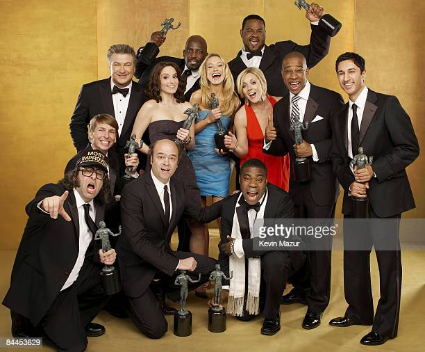 The Cast of '30 Rock' pose for their portrait at the TNT/TBS broadcast of the 15th Annual Screen Actors Guild Awards at the Shrine Auditorium on...