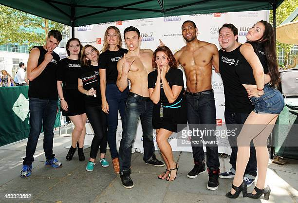 The cast of '50 Shades The Musical' attend 1067 LITE FM's Broadway in Bryant Park 2014 at Bryant Park on August 7 2014 in New York City