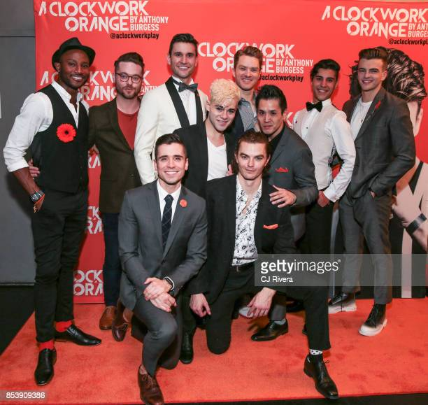 The cast of A Clockwork Orange attends the OffBroadway opening night of 'A Clockwork Orange' at New World Stages on September 25 2017 in New York City