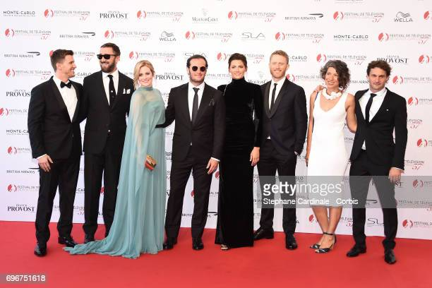 "The Cast of ""Absentia"" Patrick Heusinger, Ralph Ineson, Cara Theobold, Angel Bonanni; Stana Katic, Neil Jackson, Maria Feldman and Oded Ruskin attend..."
