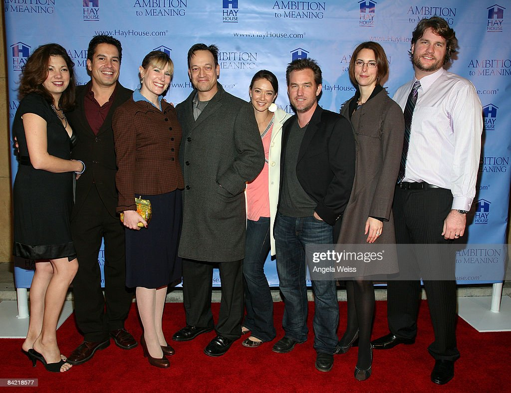 The cast of 'Ambition To Meaning' attends the premiere