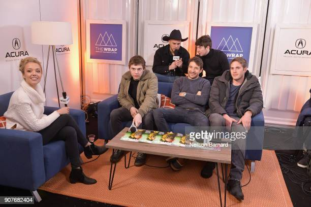 The cast of 'American Animals' attends the Acura Studio at Sundance Film Festival 2018 on January 20 2018 in Park City Utah