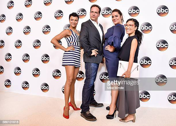 The cast of 'American Housewife' attends the Disney ABC Television Group TCA Summer Press Tour on August 4 2016 in Beverly Hills California